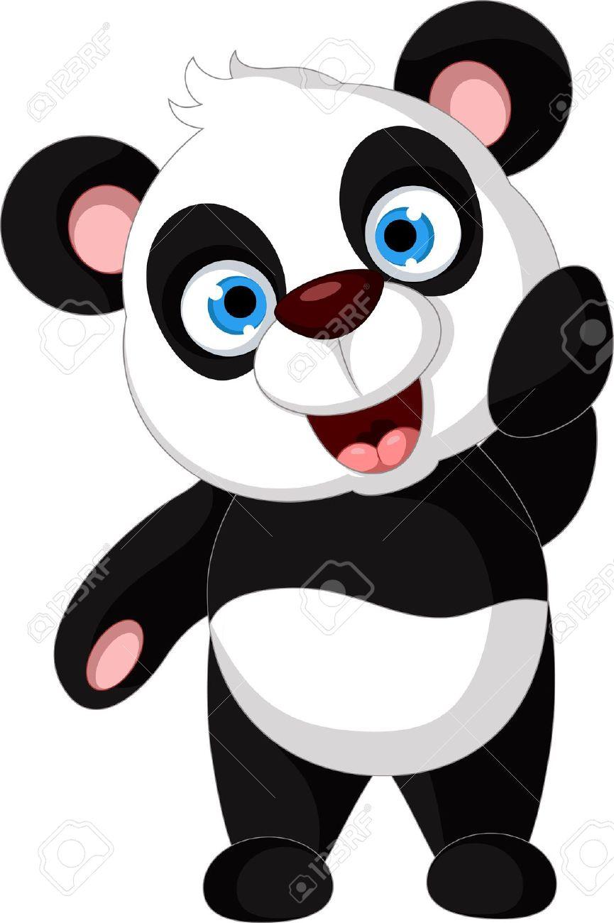 happy clipart panda