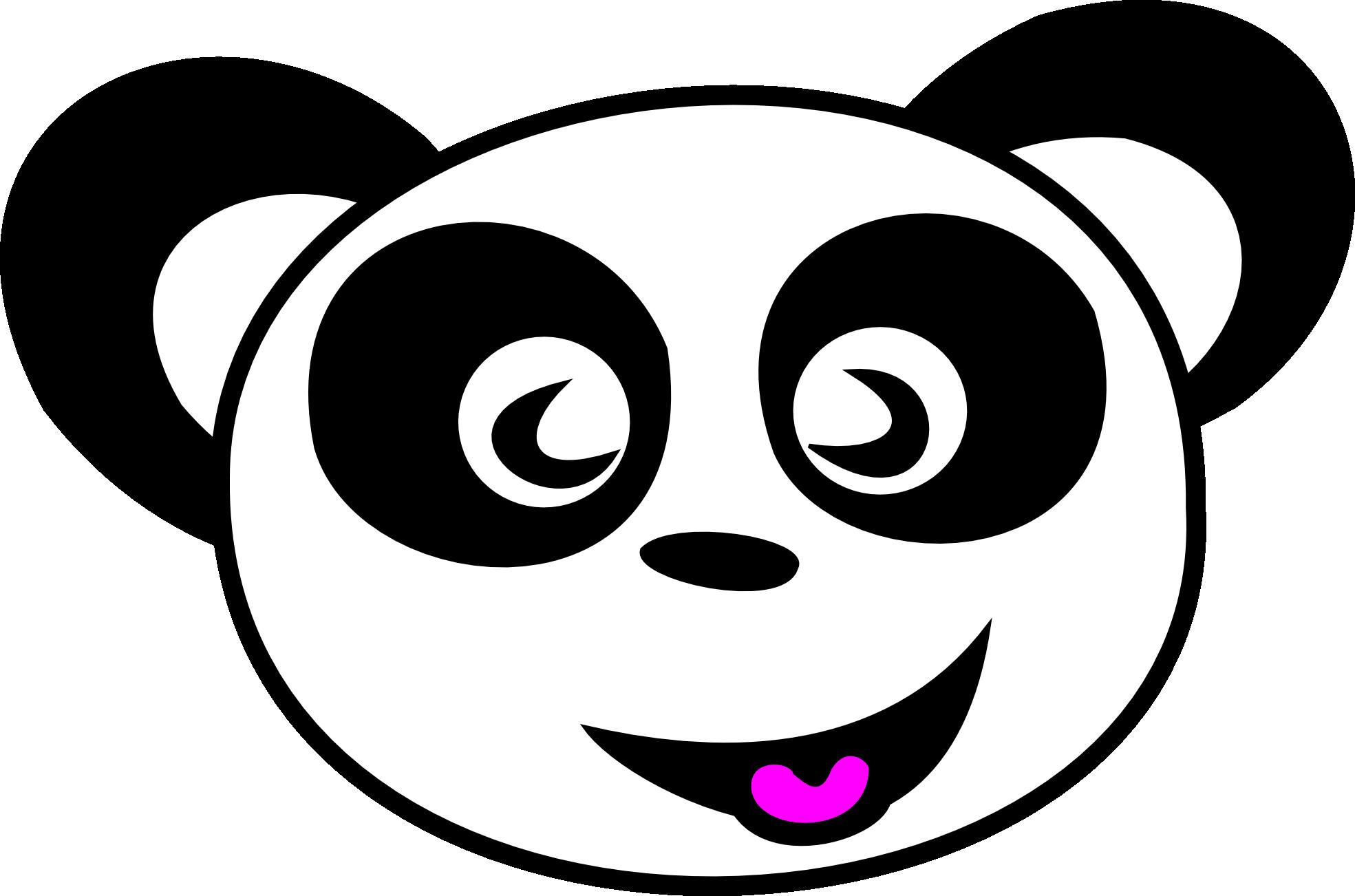 Panda Bear Face Clipart.
