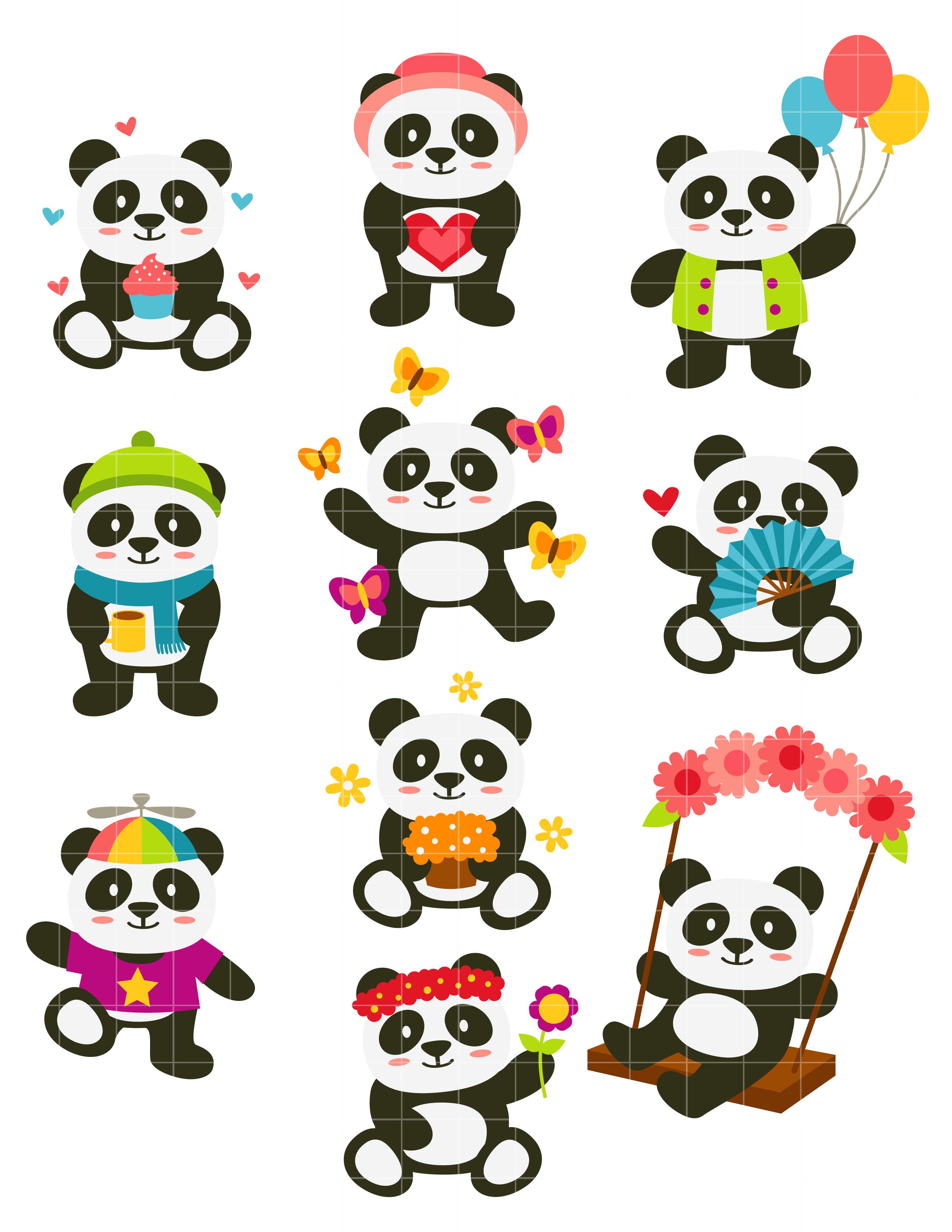 Happy Panda Clipart.
