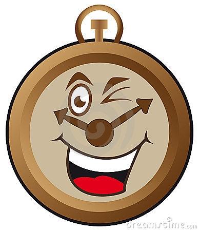 Happy Clock Clipart.