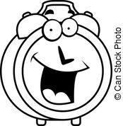 Alarm cartoon clock happy illustration morning smiling Clipart.