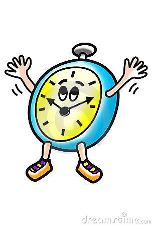Happy Clock Royalty Free Stock Image.