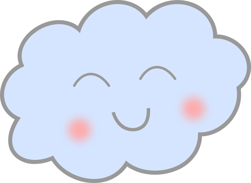Free Clipart: Happy Cloud.