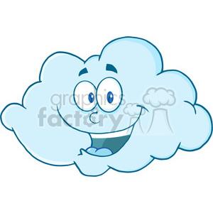 Royalty Free RF Clipart Illustration Happy Cloud Cartoon Mascot Character  clipart. Royalty.