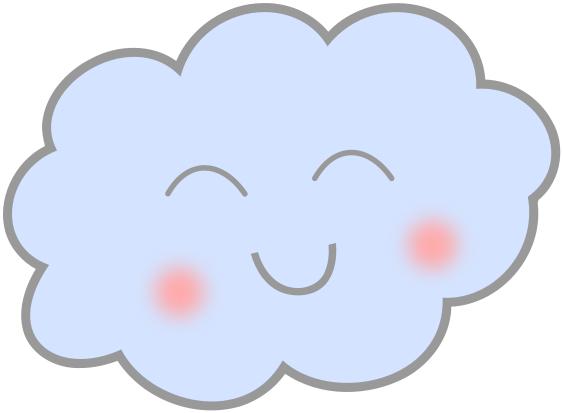 cute happy cloud.