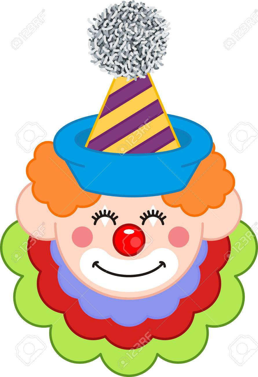 Happy clown face clipart » Clipart Station.