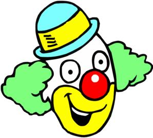 Happy Clown Face Clipart.