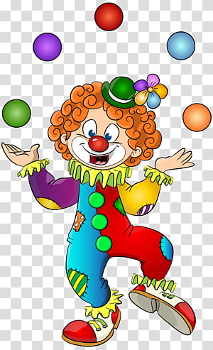 Clown transparent background PNG cliparts free download.