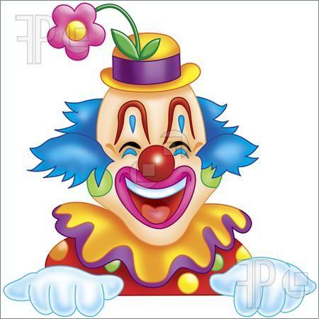 Happy Clown Clip Art.