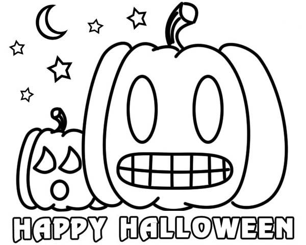 Halloween clipart to color.