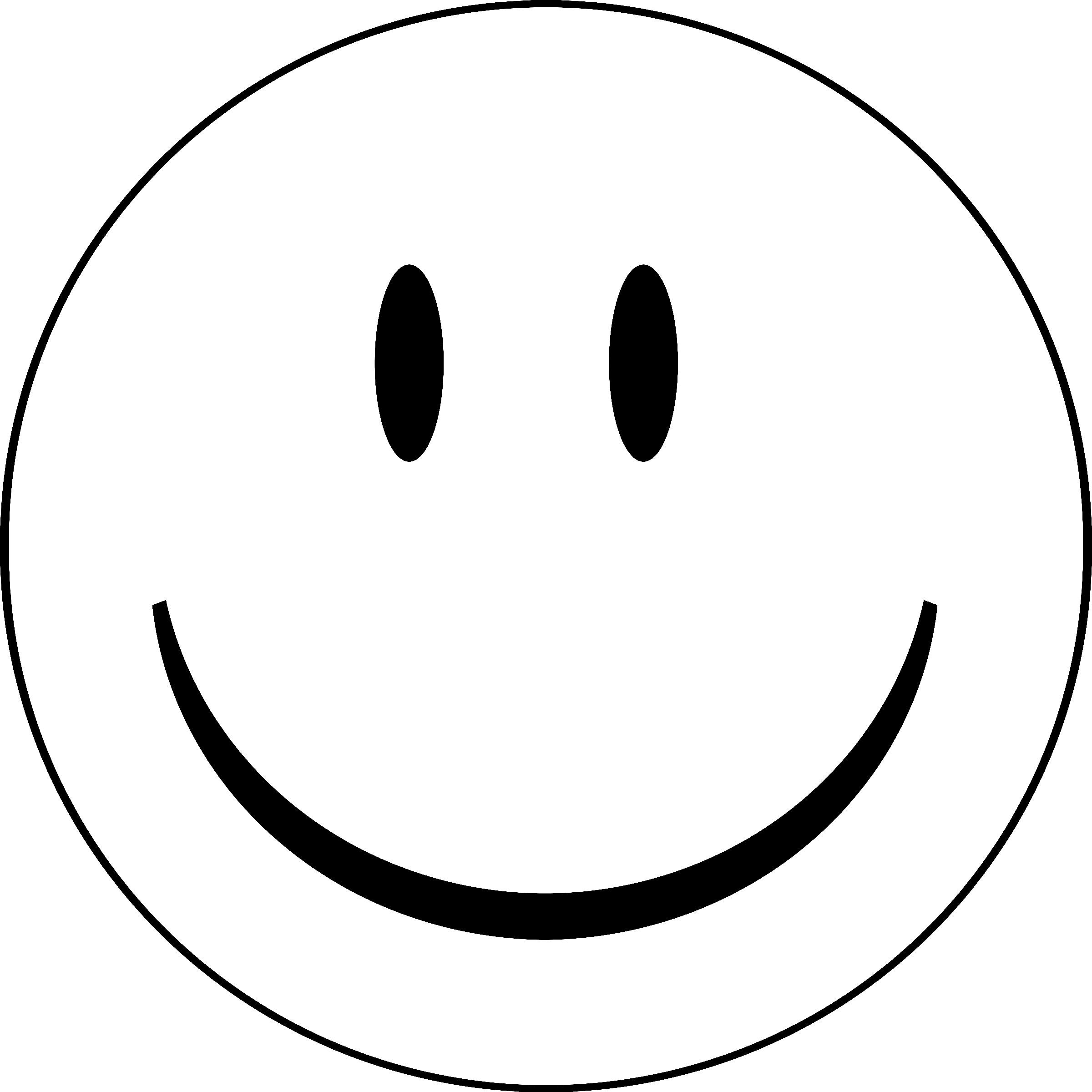Printable Smiley Faces To Color.
