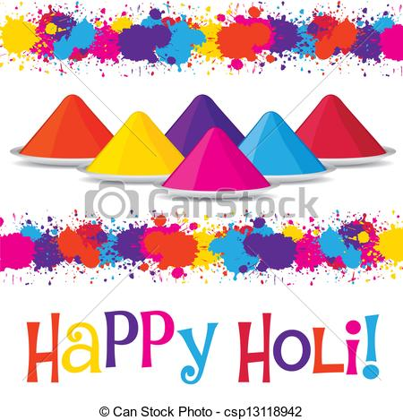 Clipart Vector of Happy Holi!.