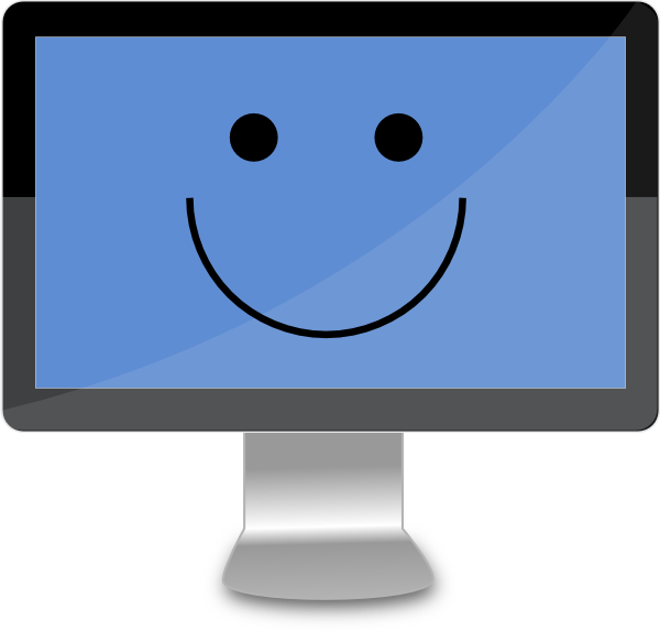 Happy Computer Screen Clip Art at Clker.com.