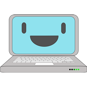 Happy Computer Laptop clipart, cliparts of Happy Computer.