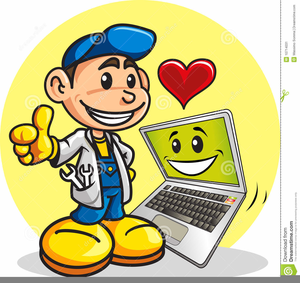 Happy Computer User Clipart.