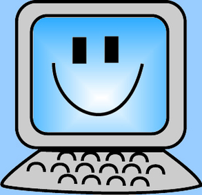 Happy computer clipart.