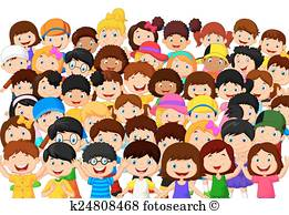 Happy Crowd Clipart.