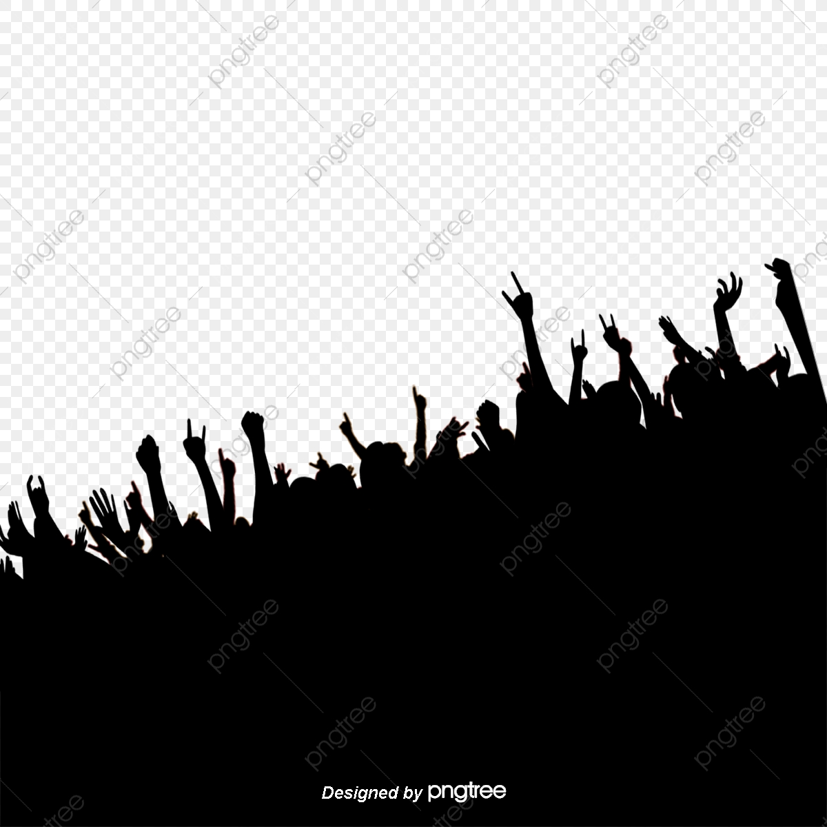 Cheering Crowd, Cheer, Crowd, Sketch PNG Transparent Clipart Image.