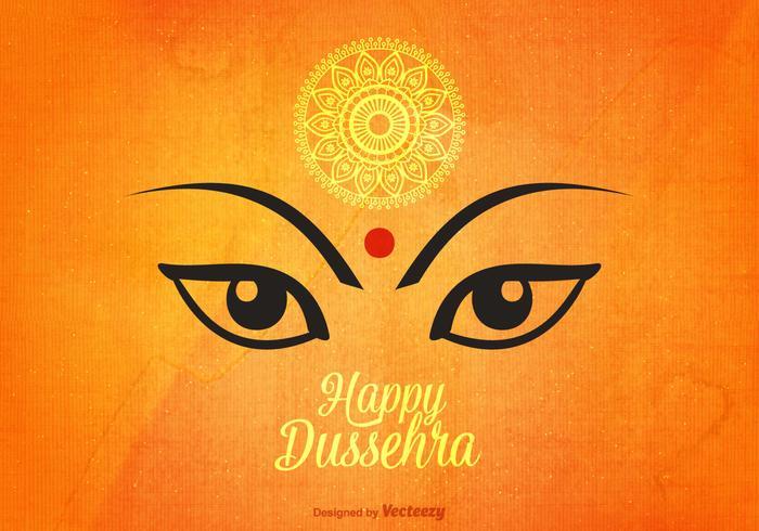 Happy Dussehra Vector Background.