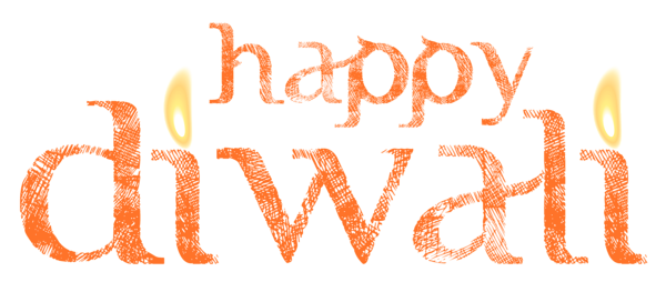 Happy Diwali PNG Text Design free download.