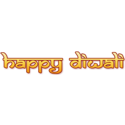 Happy Diwali Text transparent PNG.