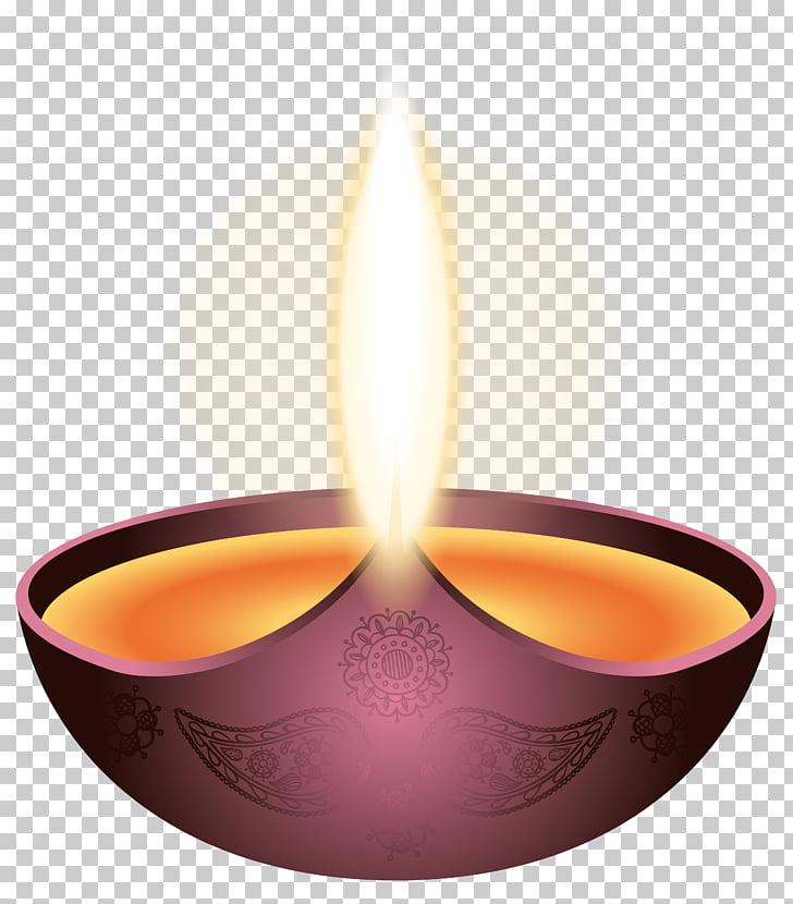Diwali Diya Candle , Purple Candle Happy Diwali , brown oil.