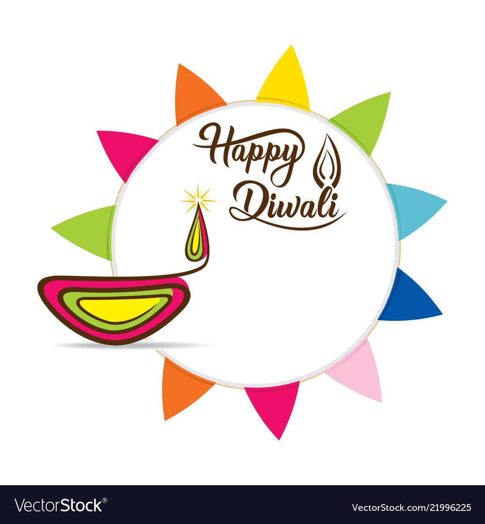 Happy diwali festival poster design.