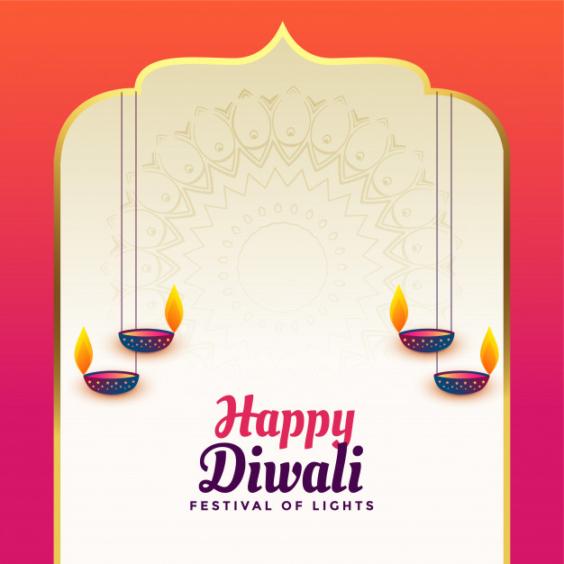 Beautiful happy diwali indian style background Vector.