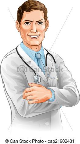 Vectors of Happy doctor character.