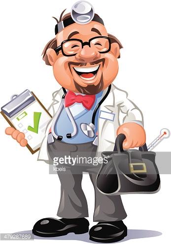 Happy Doctor Vector Art.