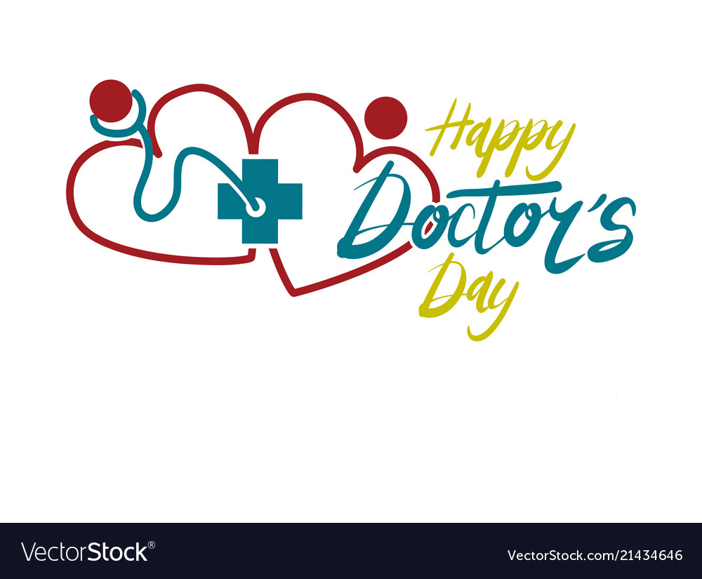 Happy doctors day vector image.