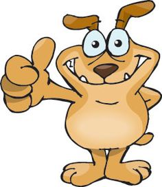 Angry dog happy dog clipart.