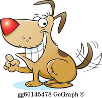 Happy Dog Clip Art.