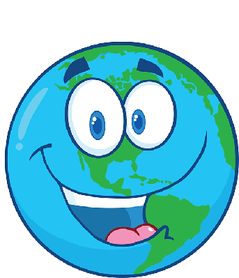 Happy Earth Under Text.
