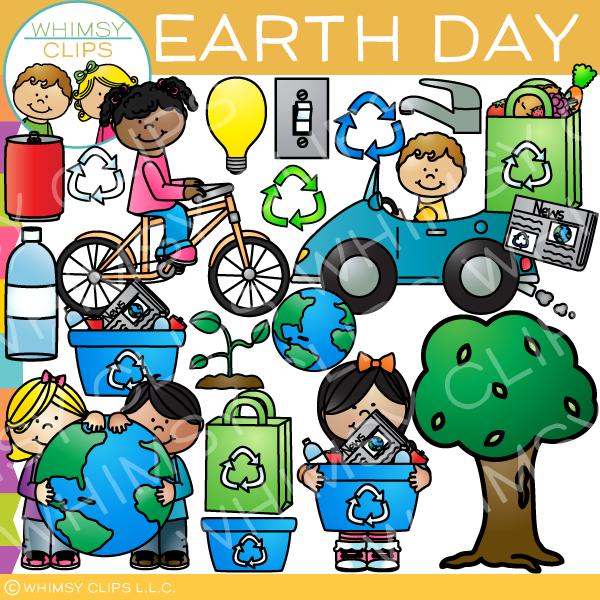 Happy Earth Day Clip Art.