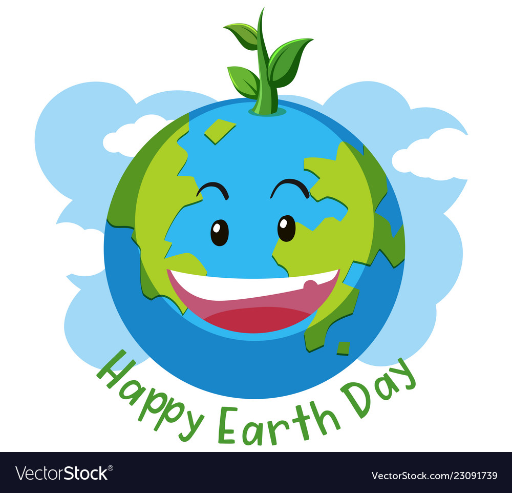 Happy earth day concept.