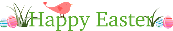 Happy Easter Banner Clipart.