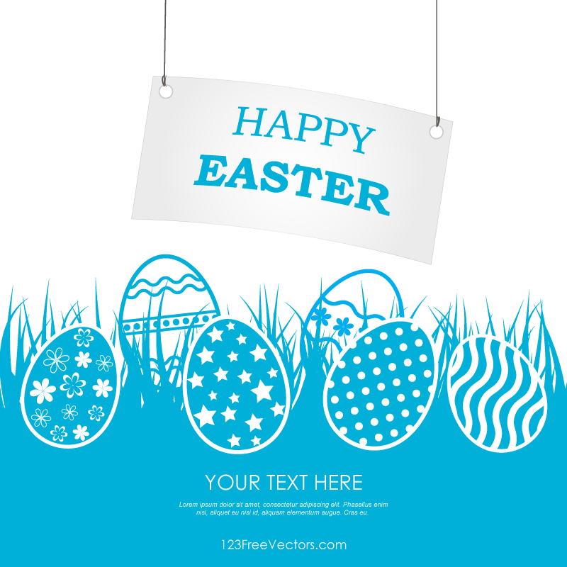 Happy Easter Banner Clip Art.