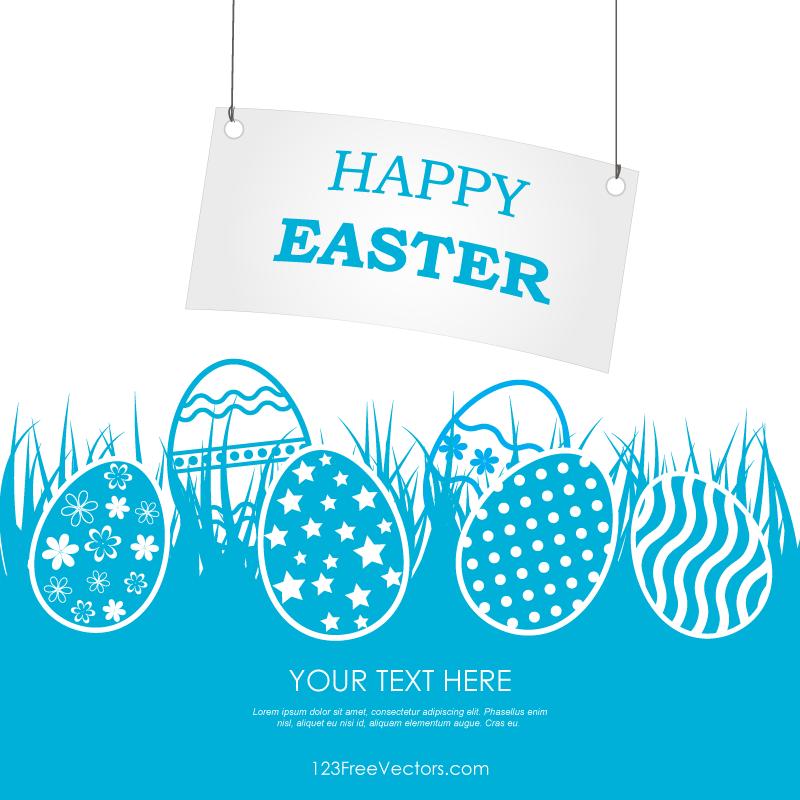 Happy Easter Banner Clip Art.