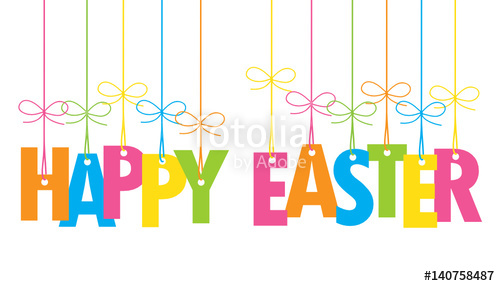 "HAPPY EASTER"" Banner Card"