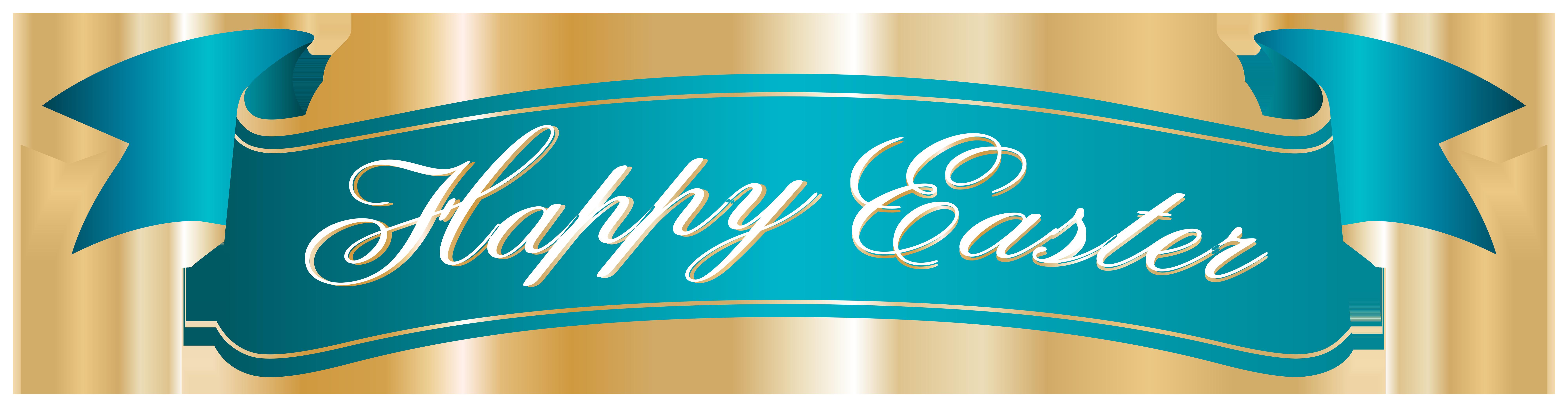 Happy Easter Banner PNG Clip Art Image.