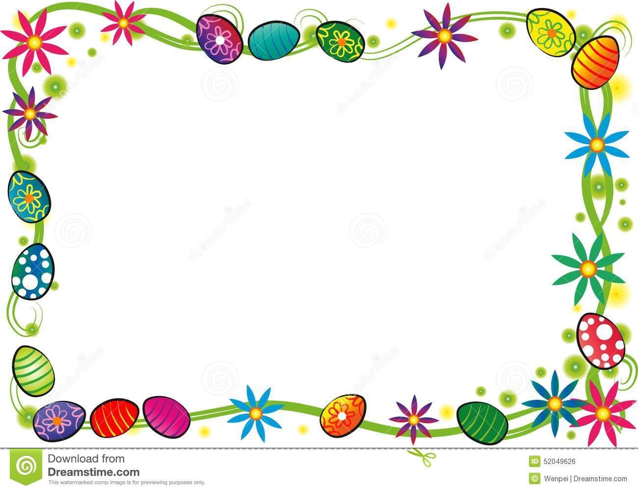 Download Free png Happy easter border stock illustration.