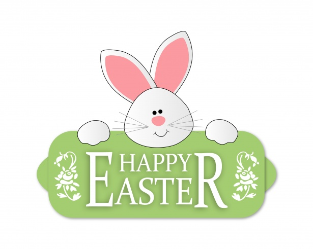 Easter Bunny Cute Clipart Free Stock Photo.