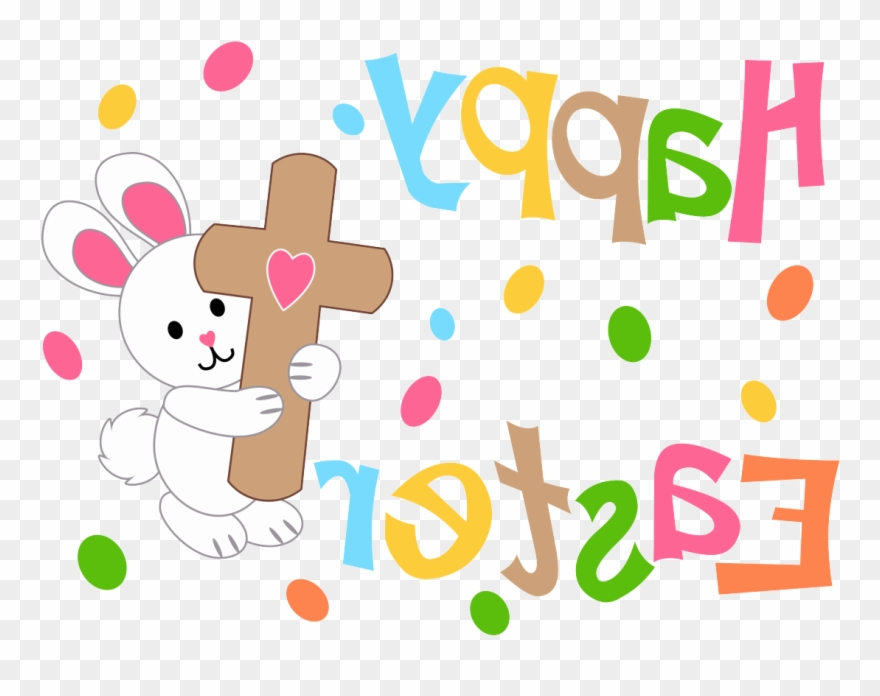 Happy Easter Bunny, Easter Cross, Cross Flag, Jesus Clipart.
