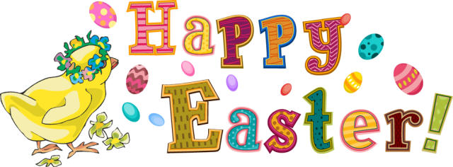 Happy easter transparent clipart.