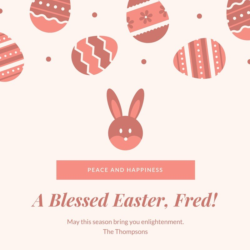 Happy Easter Greeting Instagram Post.