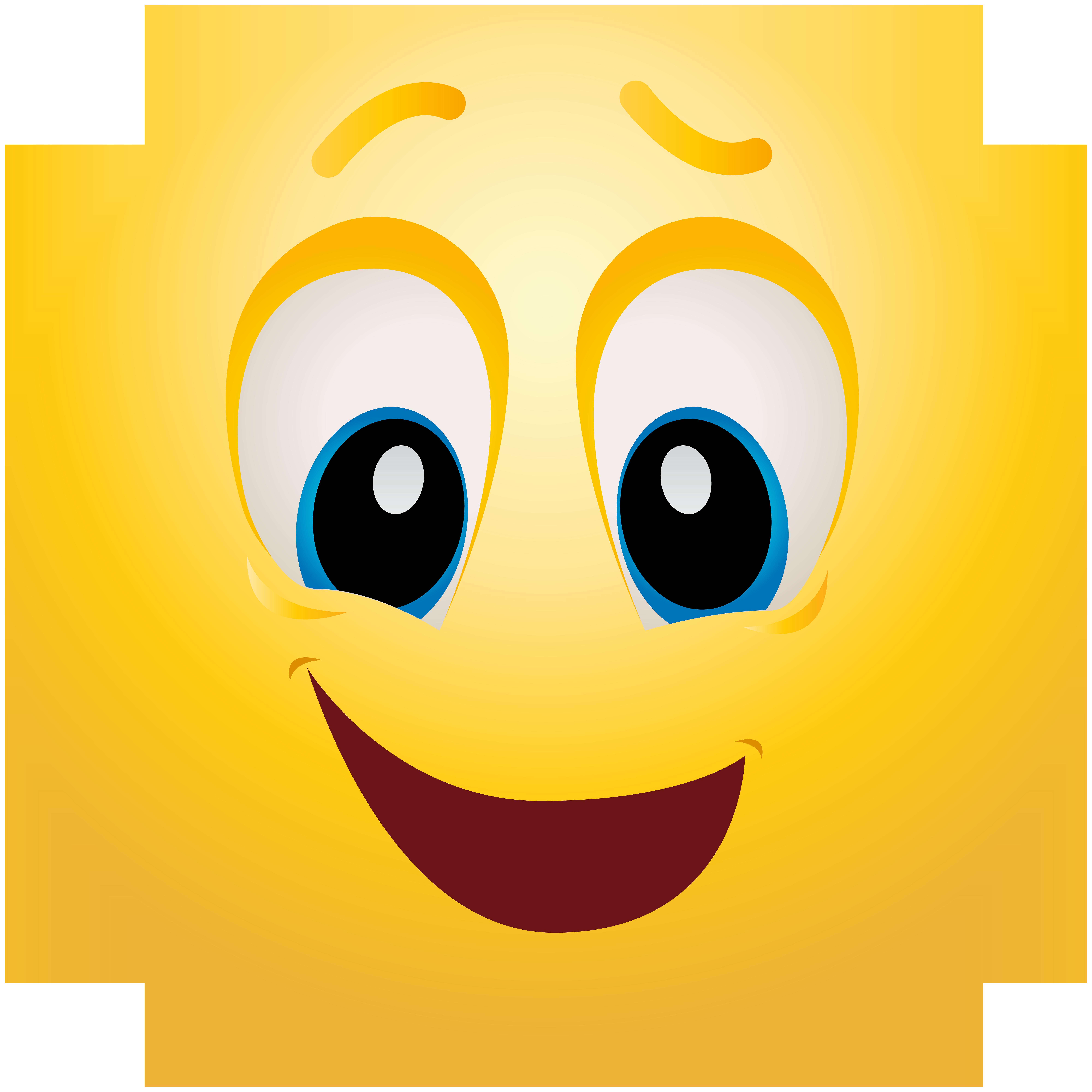 Feeling Happy Emoticon.