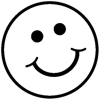 Happy Face Clip Art Black And White.