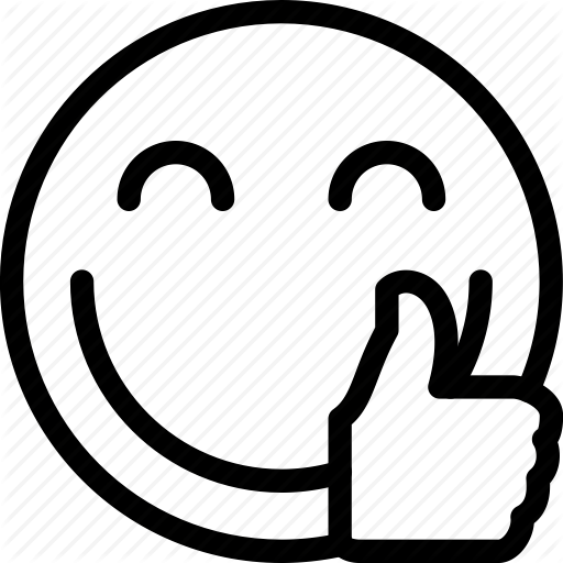 Smiley Face Thumbs Up Clipart Black And White.