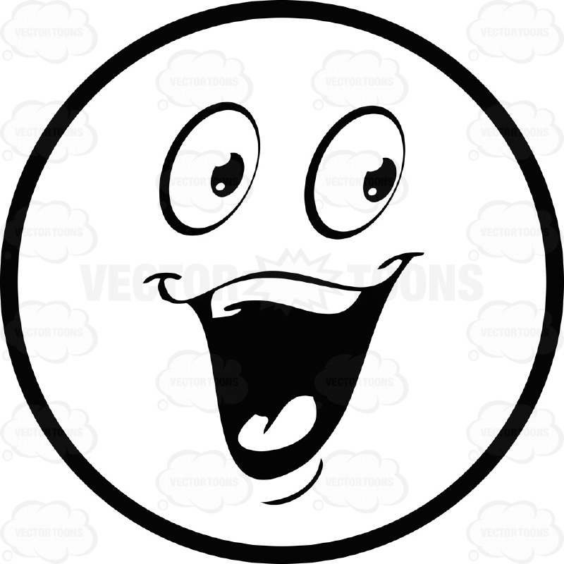 happy face clipart black and white clipground